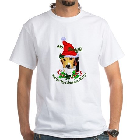 Beagle Christmas White T-Shirt