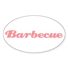 Barbecue Oval Decal