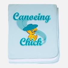 Canoeing Chick #3 baby blanket