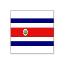 Costa Rican Flag Rectangle Sticker