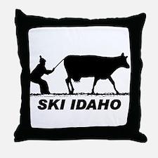The Ski Idaho Shop Throw Pillow