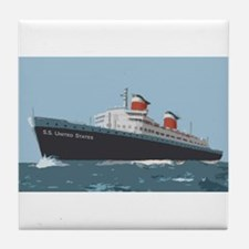 SS United States Tile Coaster