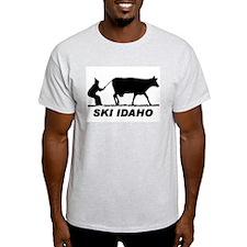 The Ski Idaho Shop Ash Grey T-Shirt
