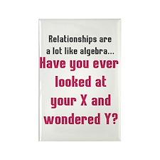 Relationships are like algebra Rectangle Magnet