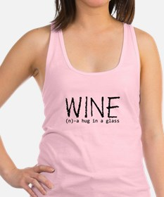 Wine Hug In A Glass Racerback Tank Top