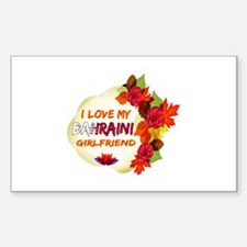 Bahraini Girlfriend Valentine design Decal