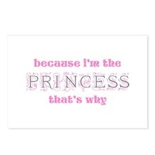 Princess Because Postcards (Package of 8)