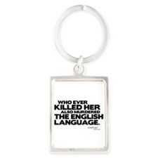 Murdered the English Language Portrait Keychain