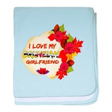 Bruneian Girlfriend Valentine design baby blanket