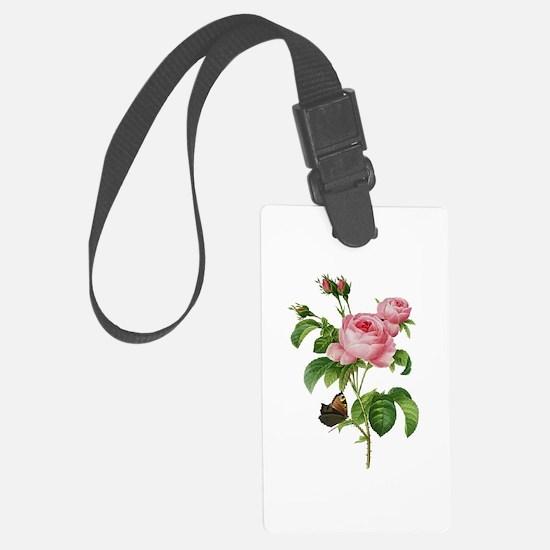Pierre-Joseph Redoute Rose Luggage Tag