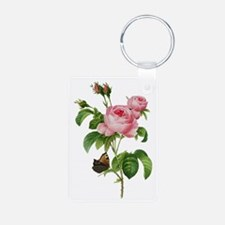 Pierre-Joseph Redoute Rose Keychains