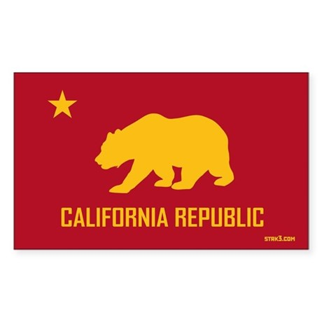 Strk3 California Republic Rectangle Sticker
