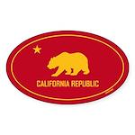 Strk3 California Republic Oval Sticker