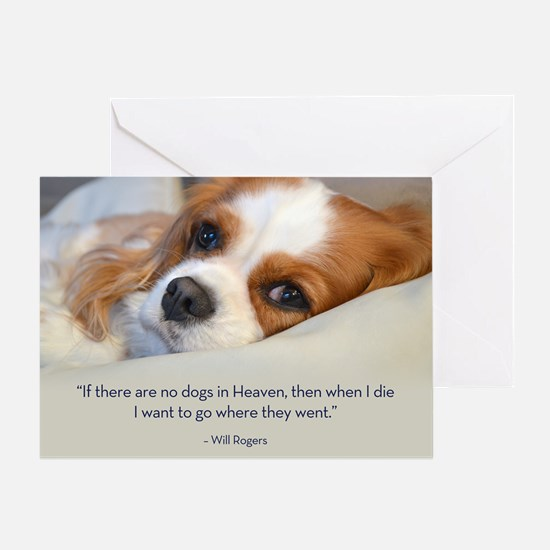 Cavalier King Charles Spaniel in Heaven Greeting C