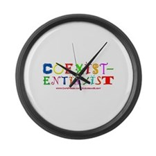 """""""Coexistentialist"""" Large Wall Clock"""