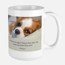 Cavalier King Charles Spaniel in Heaven Large Mug