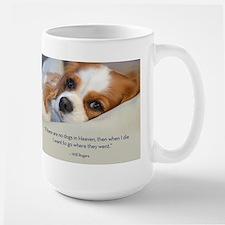 Cavalier King Charles Spaniel in Heaven Large Mug