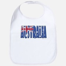 Word Art Flag Australia Bib