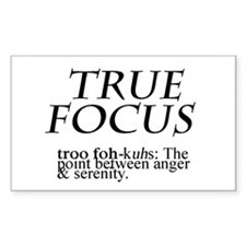 True Focus Decal