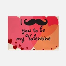 Mustache You Valentine Rectangle Magnet