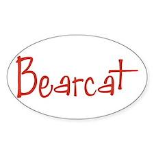 Bearcat Oval Decal