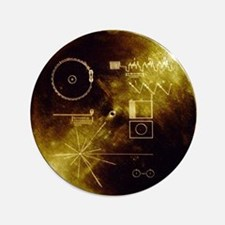 "Voyager's Gold Record 3.5"" Button"