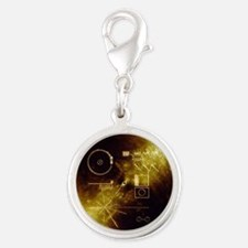Voyager's Gold Record Silver Round Charm