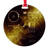 Golden record Round Ornament