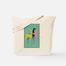 Art Deco Ornate Greyhounds Tote Bag
