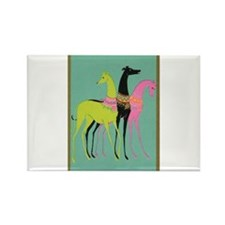 Art Deco Ornate Greyhounds Rectangle Magnet