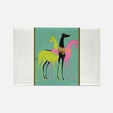 Art Deco Ornate Greyhounds Rectangle Magnet