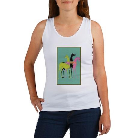 Art Deco Ornate Greyhounds Women's Tank Top