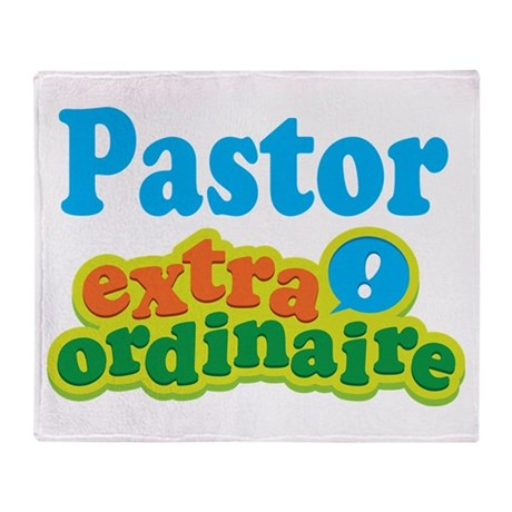 Pastor Extraordinaire Throw Blanket
