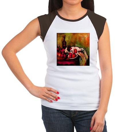 Still Life Cezanne 1895 Women's Cap Sleeve T-Shirt