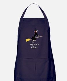 My Ex Rides a Broom Apron (dark)