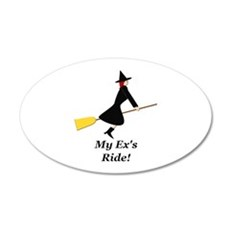 My Ex Rides a Broom Wall Decal