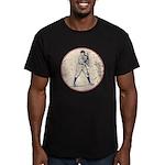 Baseball Player Men's Fitted T-Shirt (dark)