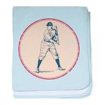 Baseball Player baby blanket