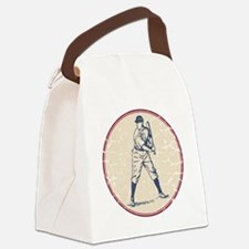 Baseball Player Canvas Lunch Bag