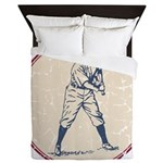 Baseball Player Queen Duvet