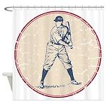 Baseball Player Shower Curtain