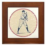 Baseball Player Framed Tile