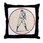 Baseball Player Throw Pillow