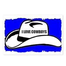 I LOVE COWBOYS Postcards (Package of 8)