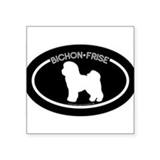 """Bichon"" Black Oval Sticker"
