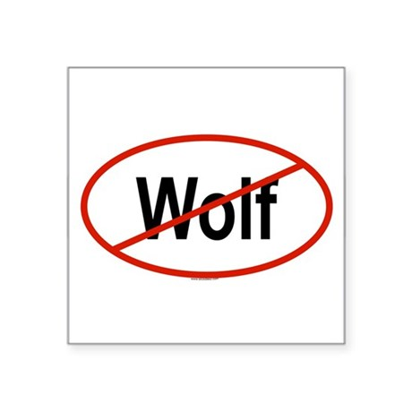 WOLF Oval Sticker
