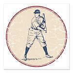 Baseball Player Square Car Magnet 3