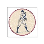 Baseball Player Square Sticker 3