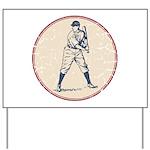 Baseball Player Yard Sign