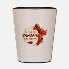 Samoan Girlfriend Valentine design Shot Glass